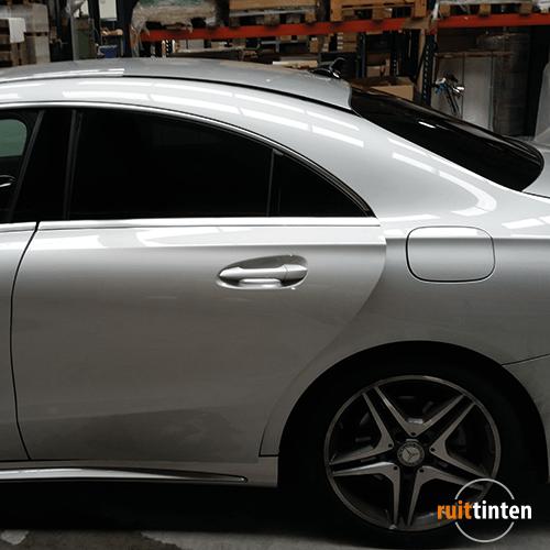 Mercedes geblindeerd op locatie